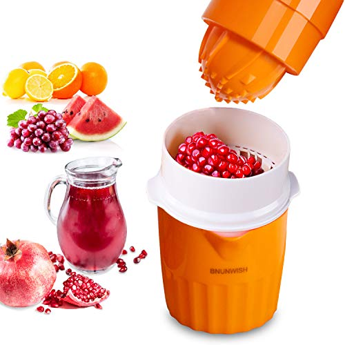 Citrus Orange Juicer Lemon Lime Squeezer Manual Grape Pomegranate Presser, 2 Cup Container
