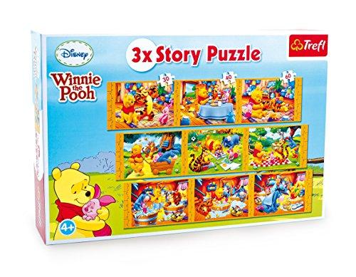 Small Foot Company (smb5v) - 3482 - Puzzle en Bois 3 en 1 - Winnie The Pooh Story
