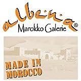 albena Marokko Galerie 15-143 Fero Marokkanischer Mosaiktisch 80cm Rund (Fero: türkis/Blau/Weiss) - 2