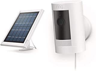 All-new Ring Stick Up Cam Solar HD security camera with two-way talk, Works with Alexa