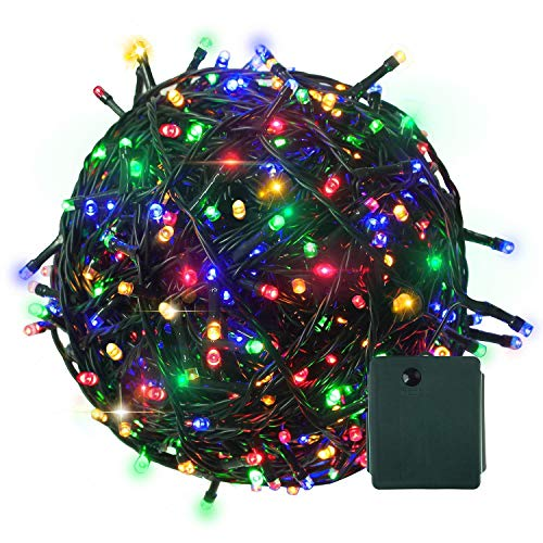 Citra 200 LED 45M Black/White Wire Fairy String Tree Twinkle Lights 8 Modes for Diwali Christmas Party, Outdoor, Garden, Wedding, Home Decoration (Multi Color)