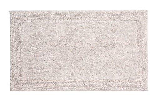 Grund Puro Series 100% Organic Cotton Reversible Bath Rug, 17-inch by 24-inch, Panna Cotta