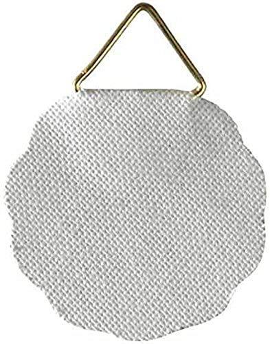 Hama Anneaux autocollants pour cadres photo (en métal, 10 pièces, attaches triangulaires, pour coller sur du bois, plastique ou métal) Blanc/Doré