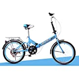 XQ XQ-TT-624 Faltrad 20 Zoll 6 Geschwindigkeit Blau