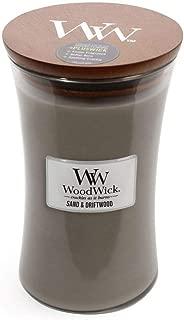 Sand Driftwood WoodWick 22oz Large Jar Candle Burns 180 Hours