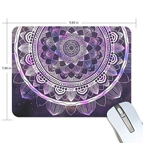 Mouse pad My Daily Abstract Mandala Galaxy Star 25 x 19 x 0,5 cm, base de borracha antiderrapante para jogos e escritório
