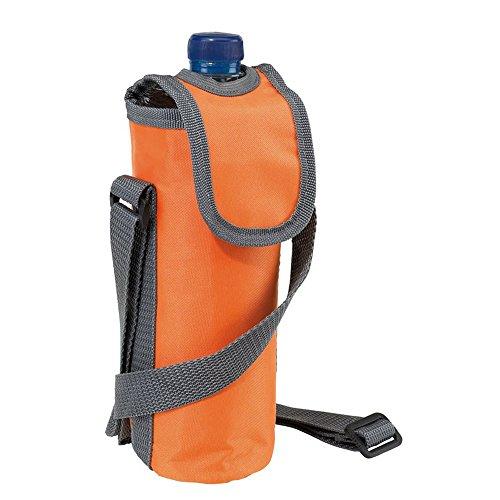 noTrash2003 Kühltasche zum Umhängen für eine 0,5L Flasche versch. Farben Trinköffnung (Orange)