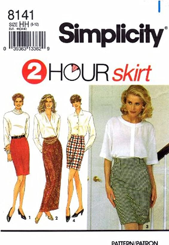 Simplicity 8141 Sewing Pattern Mini Ankle Length Slim Skirts Size 6 - 12