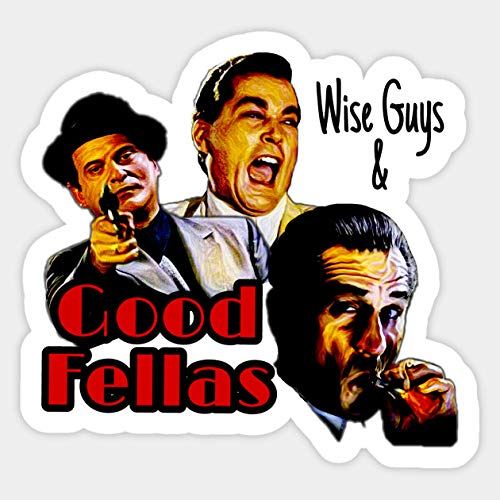 Goodfellas Wiseguys Gangster Mafia Mobster American Movie Painting - Sticker Graphic - Car Vinyl Sticker Decal Bumper Sticker for Auto Cars Trucks