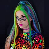 Karissa Rainbow Mermaid Wigs Long Synthetic Lace Front Wigs for Women Colorful Lace Wig with Baby Hair Nature Wavy Cheap Wig for Drag Queen Costume Make Up 24inch (Red Pink Blue Yellow Purple Green)