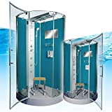 AcquaVapore DTP6037-4100 Dusche Duschtempel Komplett Duschkabine 100×100, EasyClean Versiegelung der Scheiben:2K Scheiben Versiegelung +99.-EUR - 2