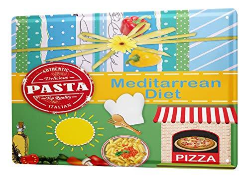 LEotiE SINCE 2004 Cartel De Chapa De La Cocina La Dieta mediterránea...