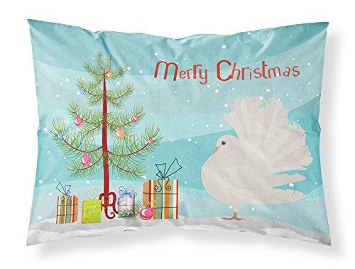 Caroline's Treasures Silver Fantail Pigeon Christmas Funda de Almohada, Multicolor, Estándar