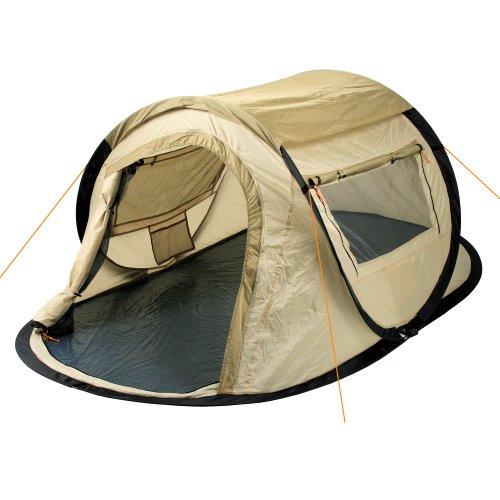 CampFeuer Wurfzelt Quiki I 2 Personen Quicktent I Campingzelt für Festival und mehr I wasserabweisend I Pop-Up Zelt (Creme/Beige)