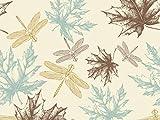 Oedim Fototapete Wand Blätter und Libellen| Verschiedene Maße 200 x 150 cm | Dekor Esszimmer, Wohnzimmer, Zimmer