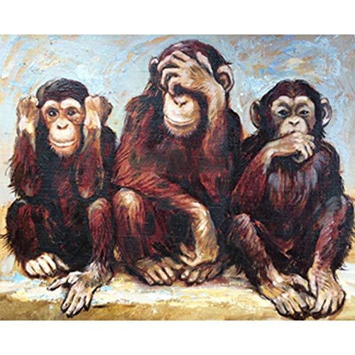 Three Monkeys Puzzles -1000 Piece Jigsaw Puzzles for Kids,Ages 12-14 Puzzles, Adults Children Puzzle Intellective Educational Toy
