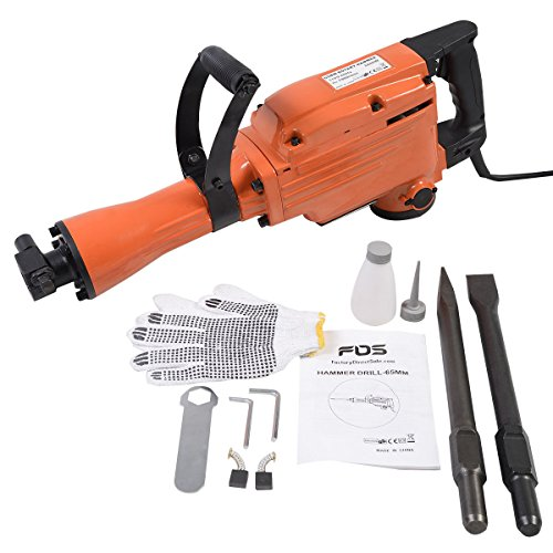 Goplus 2200 Watt Electric Demolition Jack Hammer Concrete Breaker Punch Chisel Bit Hd
