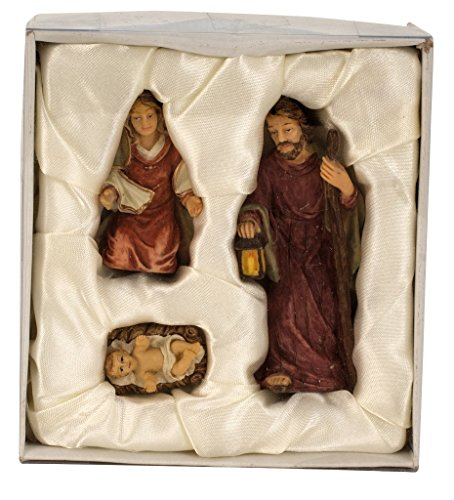 Geschenkestadl Krippenfiguren 3-teiliges Set Krippe Figuren bis 8,7 cm