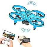 Mini dron, Quadcopter con cámara HD, Sensor G, Giro de 360 °, Control de Gestos, retención de altitud, Luces LED, avión de Control Remoto para niños y Adultos