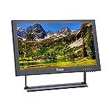 EYOYO Moniteur IPS Ecran 13 Pouces 16:9 Résolution de 1920x1080 Vidéo Audio avec Entree VGA BNC HDMI AV USB pour CCTV DVD PC (13...