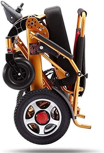 All Terrain Elektrische rolstoel, inklapbaar, licht, lithium-batterij, Vespa-stoel met dual-power-motor 12 A, 15 kilometer, van aluminiumlegering voor alle