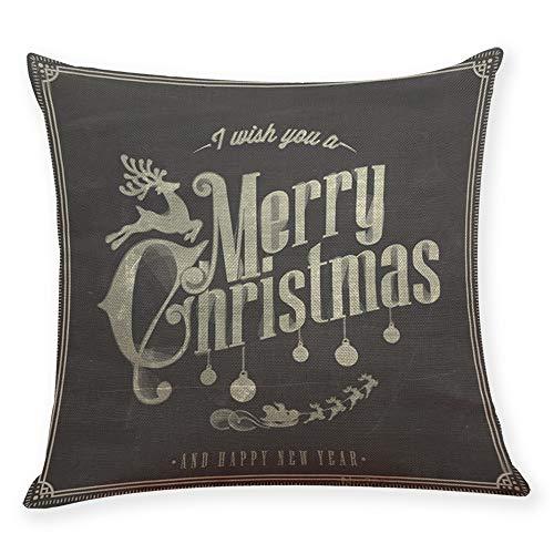 Kapian Weihnachten Designs Kissenbezug Set für Festliche Hausdekoration und Wohnzimmer Akzent...