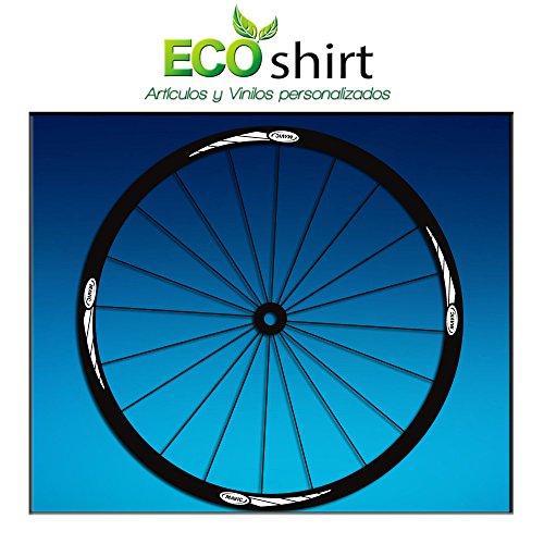 Ecoshirt T3-PNLD-6YIF Pegatinas Stickers Llanta Rim Mavic 26' 27,5' 29' Am43 MTB Downhill, Blanco