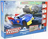 Scalextric Justice League Batman vs Superman Battery Powered 1:64 DC Comics Superheros Slot Car Race Track Set G1151T
