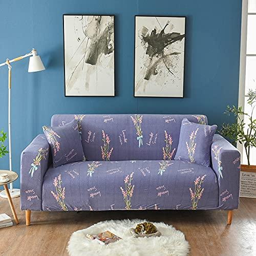 WXQY Funda de sofá de Spandex Funda Protectora elástica con Todo Incluido, Esquina en Forma de L Funda de sofá Envuelta herméticamente A18 1 Plaza