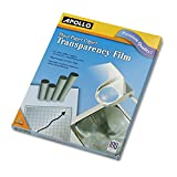 Apollo PP100C Transparency Film, 8-1/2 x11-Inch, 100/BX, Black on Clear