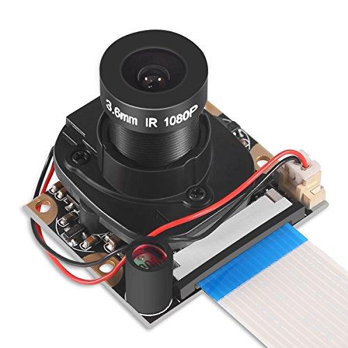 Dorhea for Raspberry Pi 4 B 3 B+ Camera Module Automatic IR-Cut Switching Day/Night Vision Video Module Adjustable Focus 5MP OV5647 Sensor 1080p HD Webcam for Raspberry Pi 2/3 Model B Model A A+