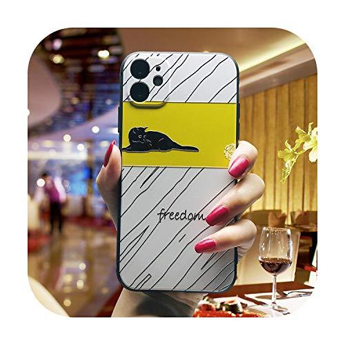 Schutzhülle für iPhone 12 XS Max X XR Coque 3D Relief Prägung Süße Schweineprägung für iPhone 11 Pro Max 8 7 5S 6 Plus Weiche Hülle Funda-Pictrue Farbe B für iPhone X