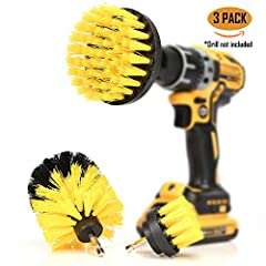 """""""AMAZONS CHOICE #1 RECOMMENDED BRAND"""" *Drill Brush 360* SAVE TIME, SIMPLY CLEAN FASTER - CLEANING BRUSHES THAT ATTACH TO ANY CORDLESS DRILL- Turn your ordinary drill into a powerful cleaning tool in seconds. Finish stubborn cleaning jobs faster and w..."""