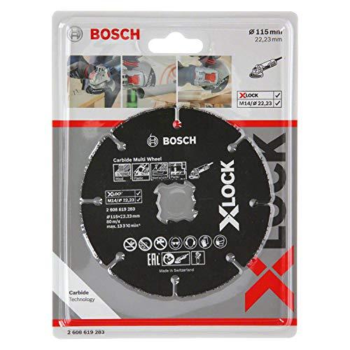 Bosch Professional Expert - Disco de corte (para madera y plásticos, X-LOCK, Ø115 mm, diámetro del orificio: 22,23 mm, grosor:1 mm)