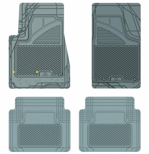 Koolatron Pants Saver Custom Fit 4 Piece All Weather Car Mat for Select GMC Envoy Models (Grey)