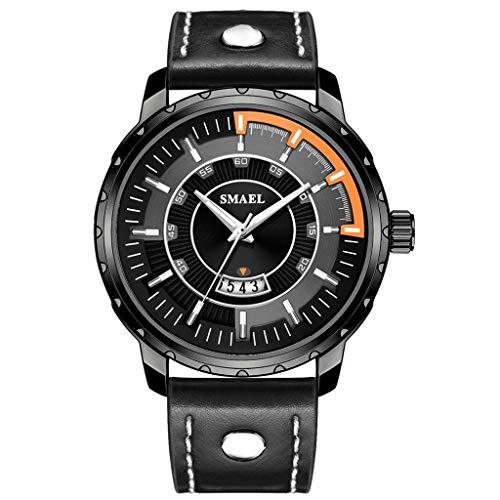 Buy Muranba WatchesFashion Creative Geometric Round Belt Men's Quartz Watch Gift