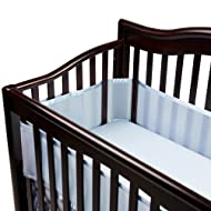 BreathableBaby Breathable Mesh Crib Liner, Blue (Discontinued by Manufacturer)