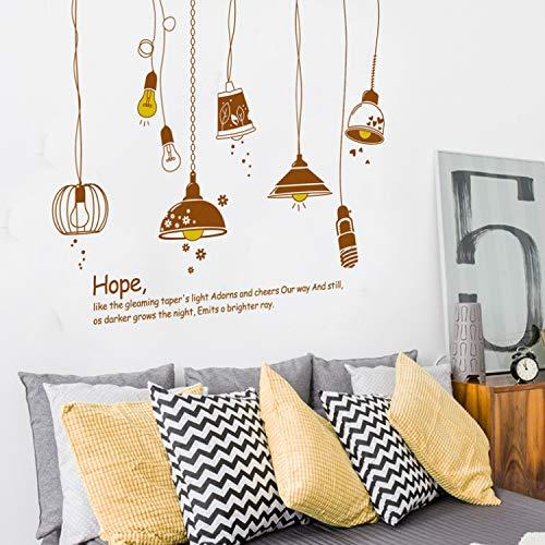 KLBNFTXMK Europa Style The Hope Lampadario Wall Stickers per Soggiorno Camera da Letto Cucina Decorazione della Parete Smontabile Art Decalcomanie Murale