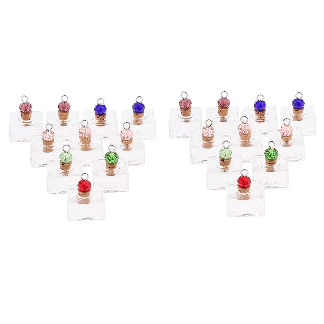 エミュレーション認識テレビを見るP Prettyia 香水 ペンダント ネックレス アロマ ガラス容器 香水瓶 ボトル エッセンシャルオイル