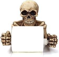 Skelet Schedels Decoratieve Toiletpapier Houder, Scary Halloween Decoraties Badkamer Wandplaten Accessoires, Beeldhouwwerk...