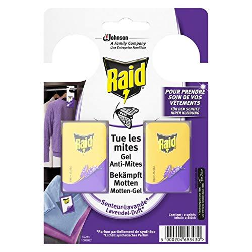 RAID - 2 Gel Anti Mites Lavande - Lot De 4 - Livraison Gratuite