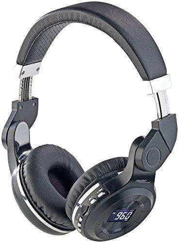 auvisio Headset Radio: MP3-Kopfhörer mit Bluetooth, Freisprech-Funktion, FM-Radio & AUX-in (Kopfhörer mit integriertem Radio)