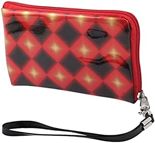 EbuyChX Patent Leather Rhombus Pattern Nababakas pulso Strap ng Cell Phone Bag