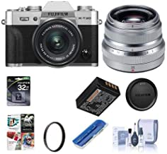 $1298 Get Fujifilm X-T30 Mirrorless Digital Camera Body, Silver XF 35mm F/2 R WR Lens, Silver - Bundle with 32GB SDHC Card, 43mm UV Filter, Cleaning Kit, Card Reader, Software Package