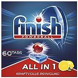 Finish All in 1Citrus, Pastillas para Lavavajillas, XXL, 60tabletas (960 g)