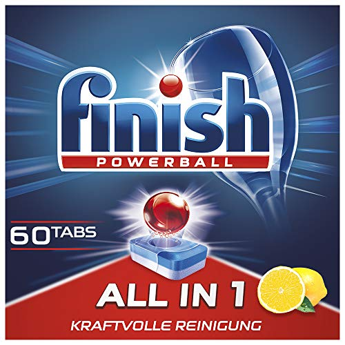 Finish All in 1 Citrus, Pastillas para Lavavajillas, XXL, 60 tabletas (960 g)