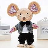 siqiwl Peluche Robot Music Mouse Giocattoli Dance Talk Peluche Elettronico Mouse Controllo del Suono Mouse Interattivi Canta Canzone Animale