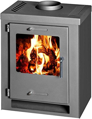 Estufa de leña chimenea Log quemador Multi combustible cubo 5kW