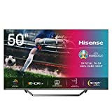 Hisense Qled 50-Zoll Fernseher (4K Uled HDR Smart TV, HDR 10+, Dolby Vision & Atmos, Full Array Local Dimming, WCG, USB-Recording, Ultra Slim Design, Mittelstandfuß, Alexa Built-in)