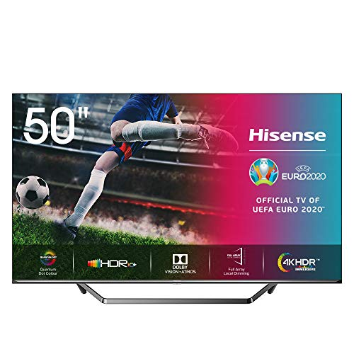 Hisense ULED 2020 50U7QF - Smart TV 50' Resolución 4K, Quantum Dot, FALD, Dolby Vision, Dolby Atmos, Vidaa U 4.0 con IA,...